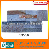 Multi color interior wall cladding nature slate/culture stone panel