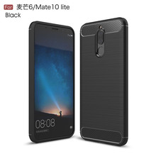 Hot sale shockproof carbon fiber tpu mobile case covers for Huawei Mate 10 lite Maimang 6