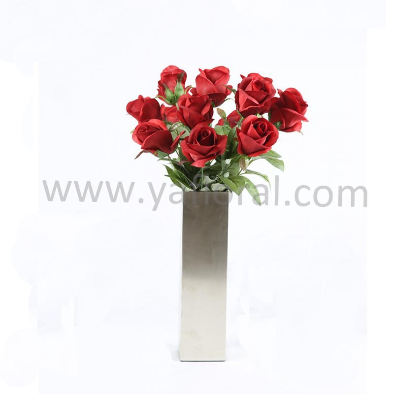 Wholesale cheap artificial red rose flower artifical bouquet for wedding