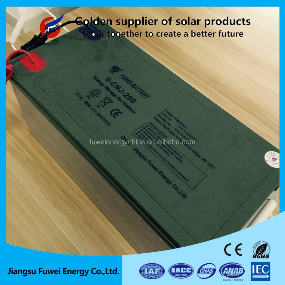 Maintenance free sealed deep cycle 12V 200Ah rechargeable storage battery