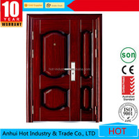 European style son and mother door villa exterior door with pattern decorative for room
