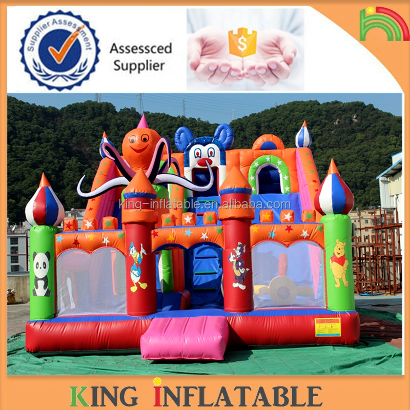 Inflatable Octopus Bounce Slide Inflatable Dry Slide For Kids Outdoor Games