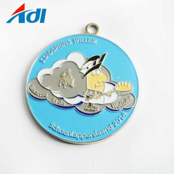 Free sample custom  metal carnival souvenir gift medals with ribbon