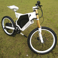 60V/72V 3000W/5000W high speed, full suspension, enduro bike frame with triangle battery