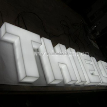 Business building front Led advertising illuminated sign customized name board designs glowing letter signage