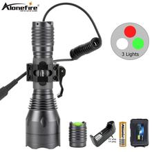 AloneFire <strong>C10</strong> Cree XPG R5 High Power <strong>LED</strong> Green Red White Hunting Light Tactical Flashlight Rifle Airsoft Shot gun Mount Torch