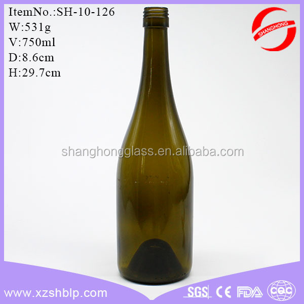 750ml Sparkling Wine Bottle Champagne Glass Bottle Wholesale Stock Sale