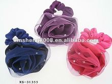 2012 new fashion rose mesh lace hair tie