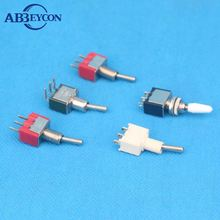 Power khan ON-OFF-ON 6 pin momentary 3-way toggle switch