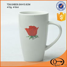 Ceramic coffee cup with pattern OEM is available 400ml