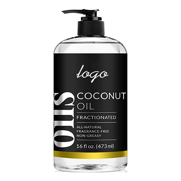 Private label 100% Natural & Pure Coconut Massage Oil for Hair and Skin or Diluting Aromatherapy Essential Oils