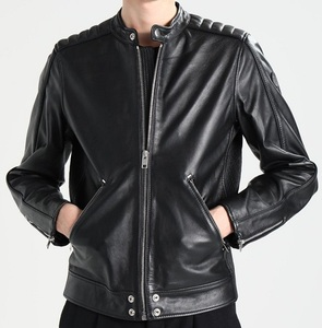 High quality men biker leather jacket for men
