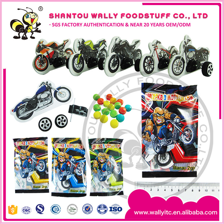 DIY 3D MOTORCYCLE TOY CANDY