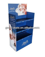 3 Tier Cardboard Display Racks for Lindt Chocolate