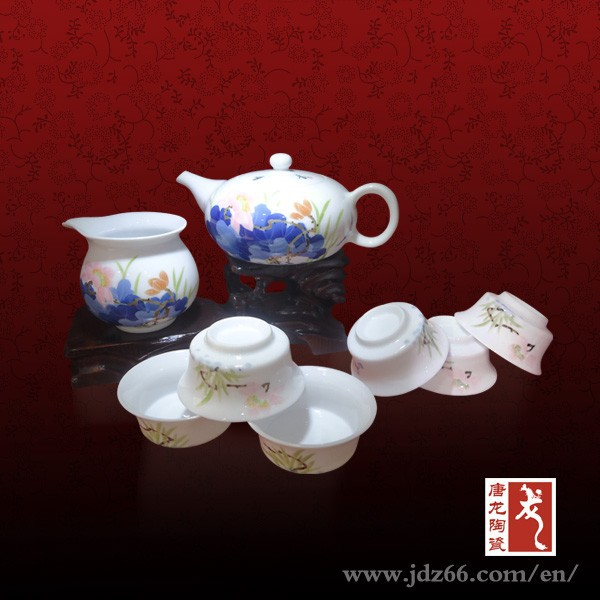 Artist design vintage Chinese style painted ceramic tea set