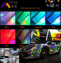 Laser electroplated film for Car Wrap or vehicle film
