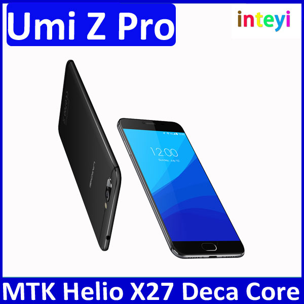 "Hot Umi Umidigi Z Pro Unlock Mobile Phone 5.5"" MTK Helio X27 Deca-core 4G+32G Smartphone Auto Focus 3D Capture Dual Rear Camera"