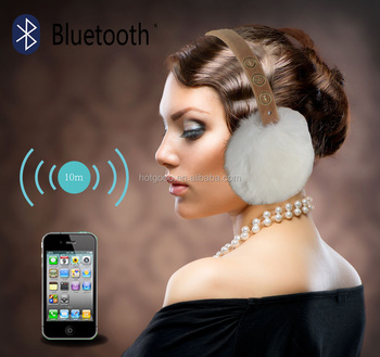 100% polyester outdoor bluetooth headphone earmuff for sleeping