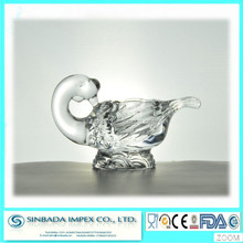 Wholesales swan shape candle holder high quality crystal glassware for home deco