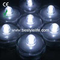 Sumbersible bright waterproof floating led tea lights