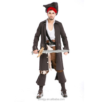 Pirate Captain Cosplay Costume for Adult