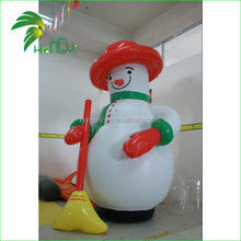 Christmas Advertising Display PVC Inflatable Snowman / Air Xman Cartoon Snowman Decoration Outdoor