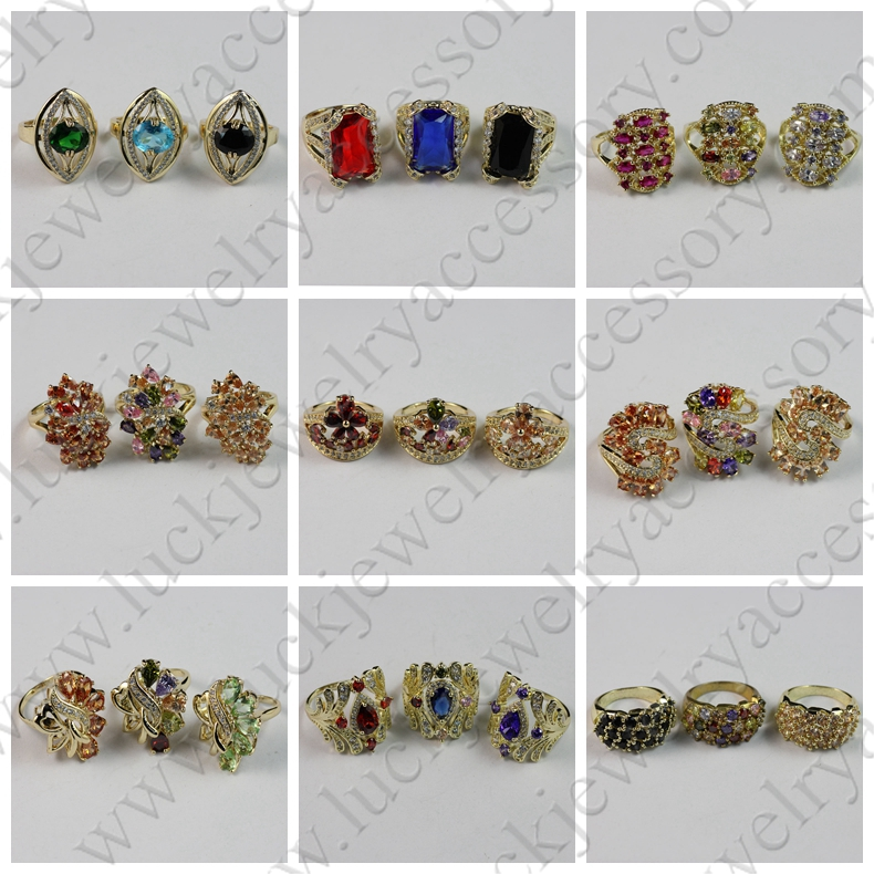 Different Kind of Finger rings Fashion New Model Crystal Rhinestone Stones Gold Finger Ring Rings Design for Women with Price
