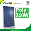 Most popular positive tolerance poly 240w solar panel aluminium profiles