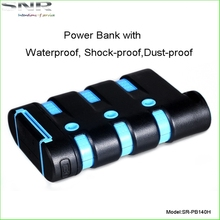 Outdoor essential Waterproof charger power bank/IP67 outdoormobilecharger 9000mAh for mobile phone