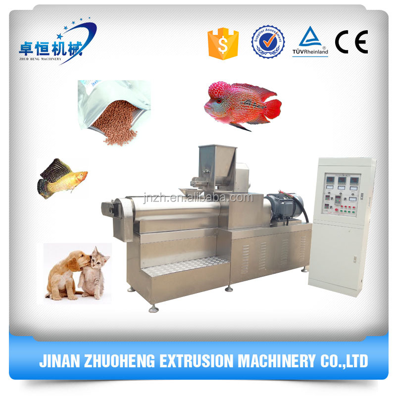 Factory price floating fish feed extruder/pet dog food making machine