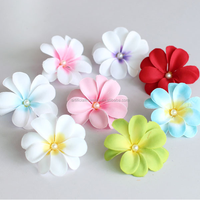 2016 wholesale 8 cm diameter artificial colourfast dried plumeria flowers