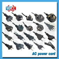 Free sample China factory UL VDE approved ac power cord for TV