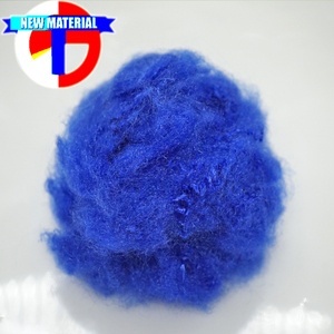 1.5D trilobal dope dyed virgin polyester staple fiber plant