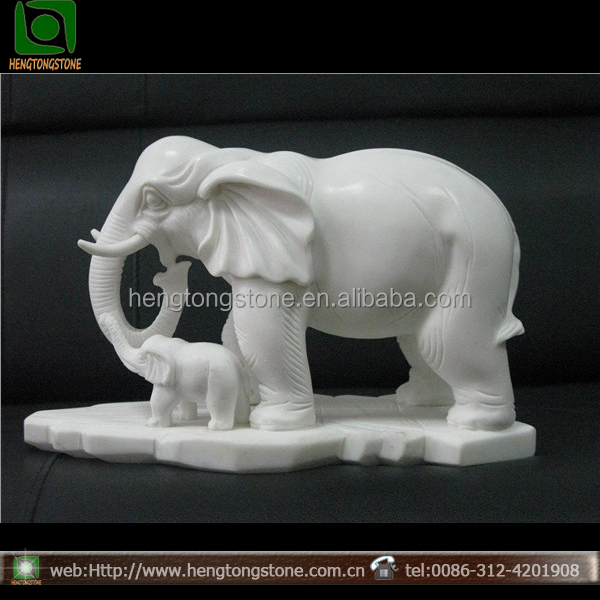 outdoor decorative white indian marble elephants