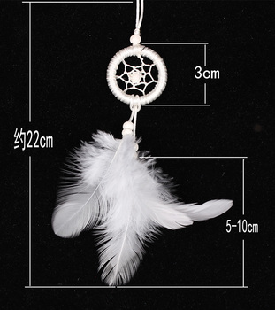 pure white mini bag decoration dream catcher MS8014
