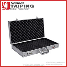 Good Quality Silver Gun Carrying Case Aluminum Case with Foam Pistol Storage Security Case