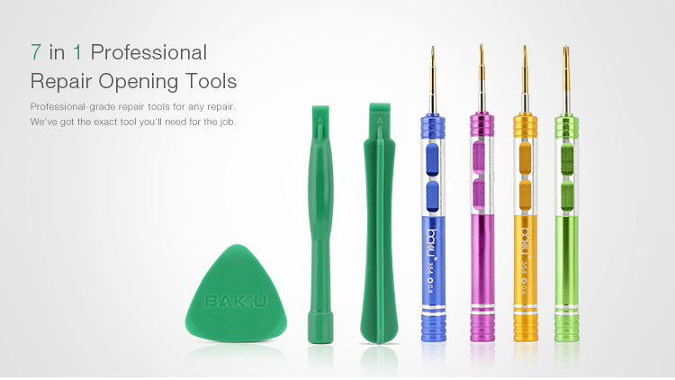 BAKU ba-3336 7 in 1 mini precision pentalobe / philips / torx / screwdriver set for mobile phone