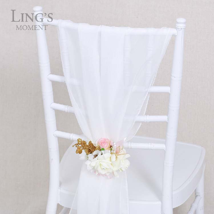 wholesale fancy chiffon wedding chair cover