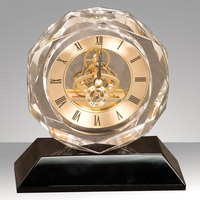 wedding favor crystal octagon table clocks for gift MH-ZB007