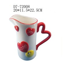 unique design Heart shape ceramic kettle for sale