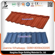 SGB Classic type cheap colorful modern stone coated metal roofing tiles