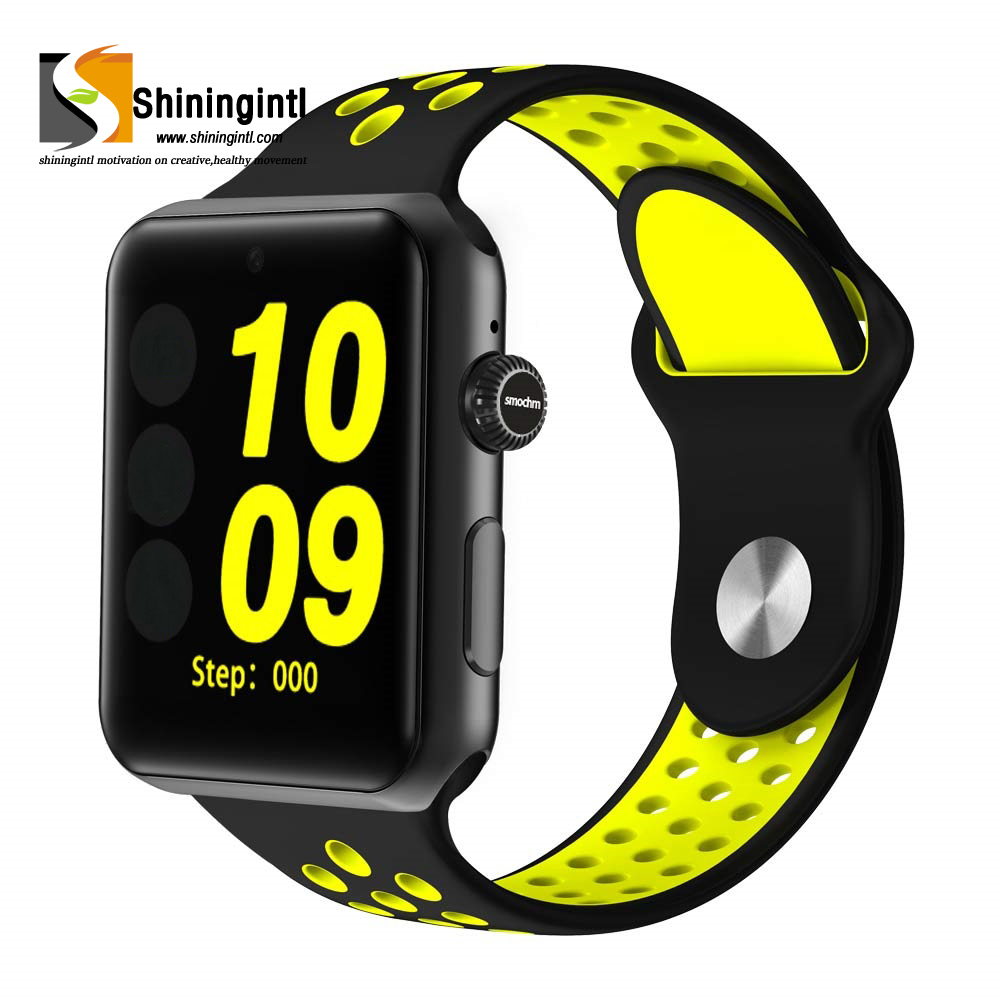 Sports band GSM Sim Supported Bluetooth Smart Wrist Watch Phone IWO 1:1 MTK2502C Camera for <strong>Apple</strong> Iphone Huawei Xiaomi Android