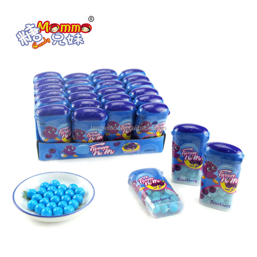 blueberry blue nice blue color in the bottle bubble gum ball of VC-018