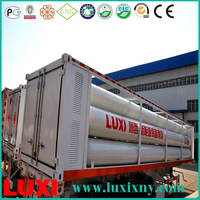 Luxi cng cylinder tube trailer insulation fuel tanker semi trailer