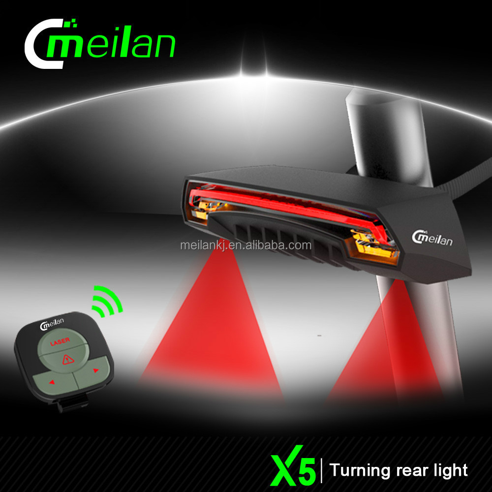 Wholesaler Bike led turn signal light Meilan X5 Bicycle rechargeableled wheel safety light