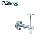 Hot sale satin glass mounted stainless steel handrail bracket