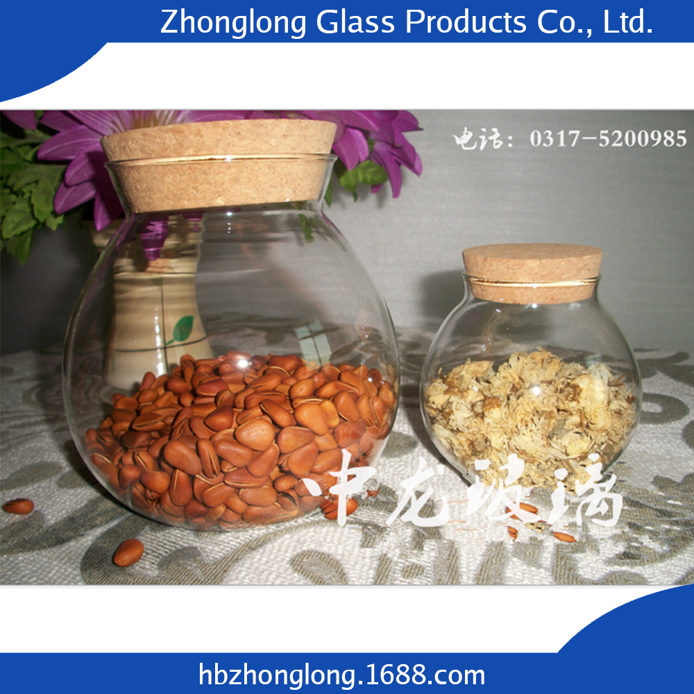 Alibaba Best Sellers Glass Transparent Clear Glass Jar