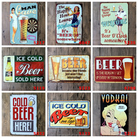 NO MOQ Wholesale Vintage Beer Metal