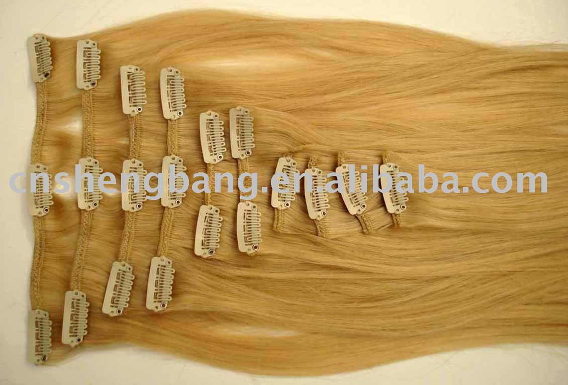 good quality Chinese hair extension clips in human hair extension