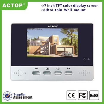 Wired buiding aparment video intercom support CCD image sensor and night version building apartment video intercom